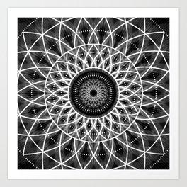 B&W Mandala Art Print