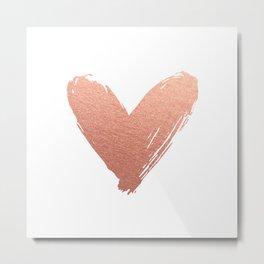 heart of rosegold Metal Print