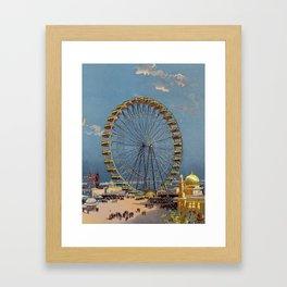 Ferris Wheel at Chicago World's Fair, 1893 Color Print Framed Art Print