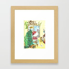 Moby's Christmas Framed Art Print