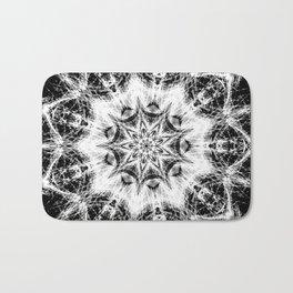 Atomic Black Center Swirl Mandala Bath Mat