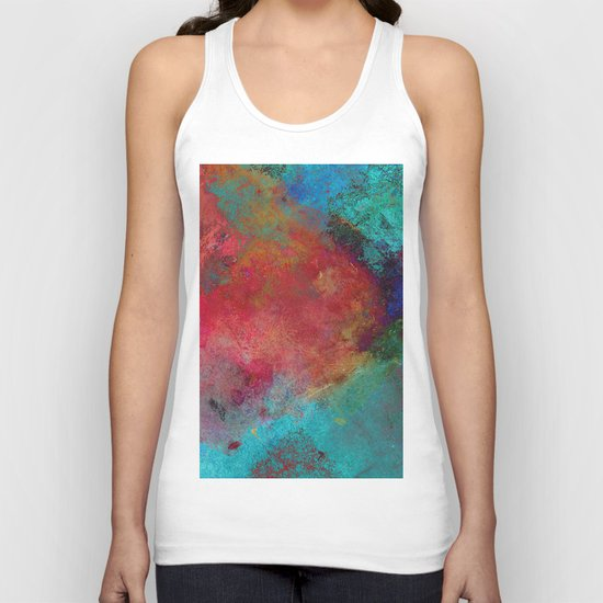 Love - Abstract, textured painting Unisex Tank Top