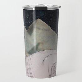 Sphynx Cat (space bg) Travel Mug