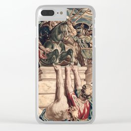 Triumph of Constantine over Maxentius at the Battle of the Milvian Bridge Clear iPhone Case