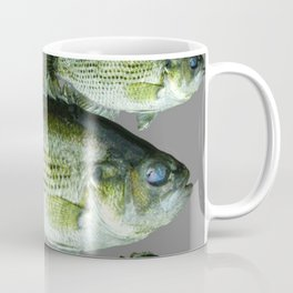 SCHOOL OF GREEN FISH  IN GREY Coffee Mug