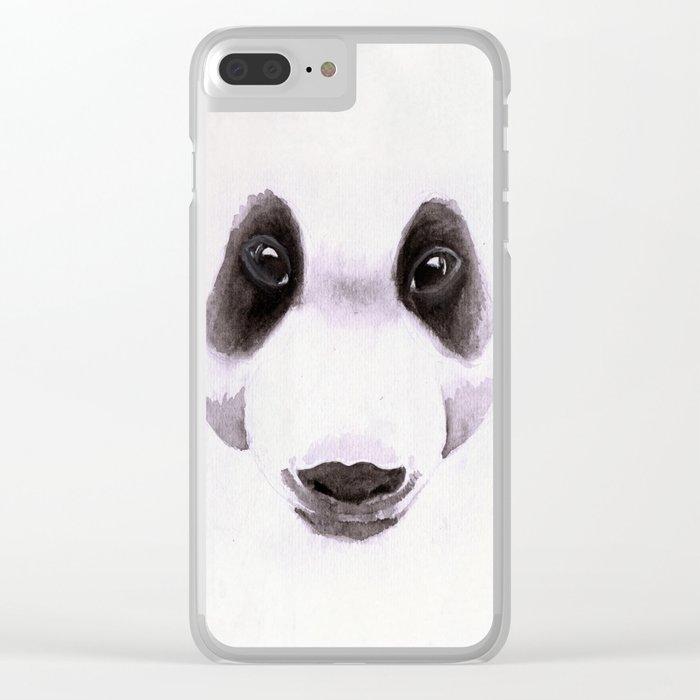 Panda II Clear iPhone Case
