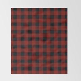 Vintage New England Shaker Large Barn Red Buffalo Check Plaid Throw Blanket