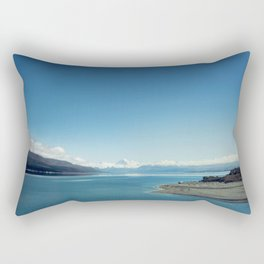 Blue & snowy landscape Rectangular Pillow