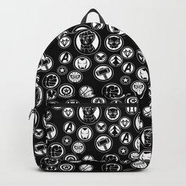 Superhero Infinity War Logo in Black Backpack