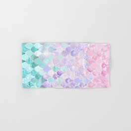 Mermaid Pastel Iridescent Hand & Bath Towel