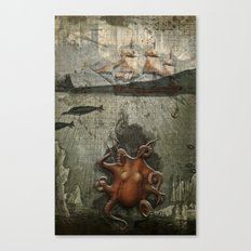 paper III :: octopus/ship Canvas Print