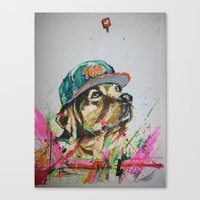 labrador Canvas Prints featuring LABRADOR by EDSON RAMOS