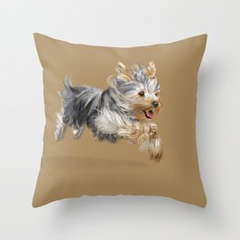 A Yorkie called Joy Throw Pillow