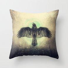 Raven I Throw Pillow