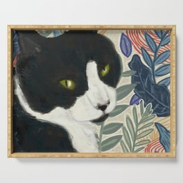 Tropical Cat Serving Tray