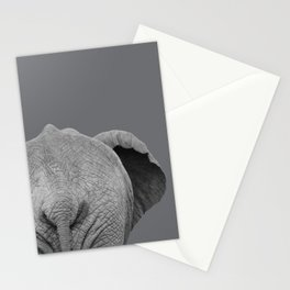 Elephant Wet Bum (Grey) Stationery Cards