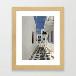 Grecian Alleyway Framed Art Print