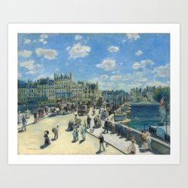 Pont Neuf Paris Painting by Auguste Renoir Art Print