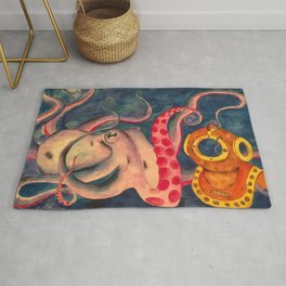 Ted the Octopus Rug