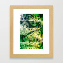 Emerald Universe (Five Panels Series) Framed Art Print