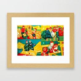 """Big children don't cry"" Framed Art Print"