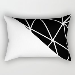 GEOMETRIC PATTERN (BLACK-WHITE) Rectangular Pillow