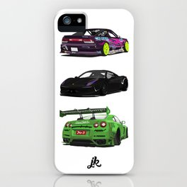 Vectored Cars iPhone Case