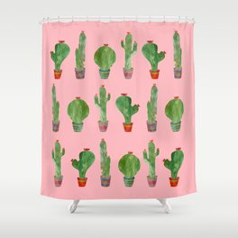 cactus pink Shower Curtain
