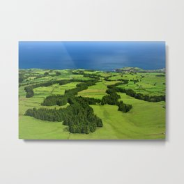 Typical Azores landscape Metal Print