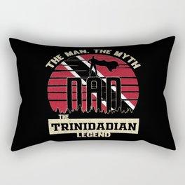 The Man The Myth The Trinidadian Legend Dad Rectangular Pillow