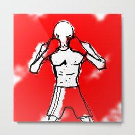 THE BOXER - RED RUM Metal Print