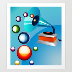 Atomic Music Art Print