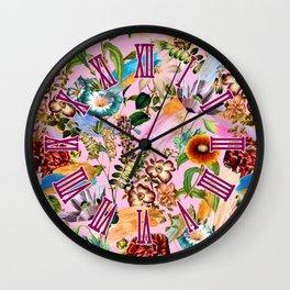 SUMMER BOTANICAL IX Wall Clock