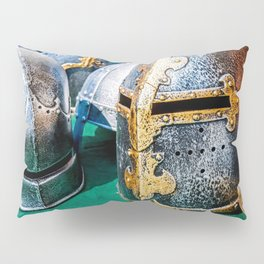 Medieval Knight Or Crusader Helmets Pillow Sham
