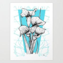 Arum Art Print