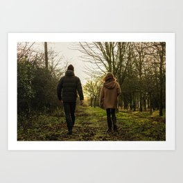 walking away Art Print