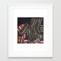 army Framed Art Prints featuring Army by KateBuchan