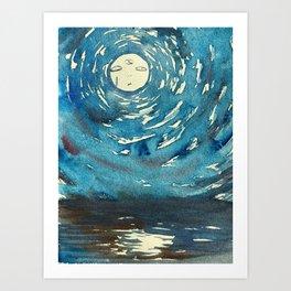 Psychic Moon Art Print