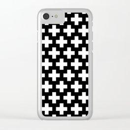 Swiss Cross W&B Clear iPhone Case