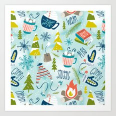 Snow Day Hooray! Art Print