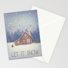Winter - Let it snow Stationery Cards