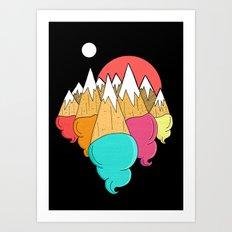 Ice-cream mounts Art Print