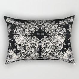 Birds of Paradise - Art by Lana Chromium Rectangular Pillow