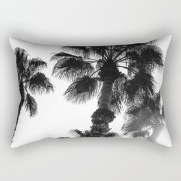 Palm Tree Art Print {3 of 3} | B&W Topical Beach Plant Nature Vacation Sun Vibes Artwork Rectangular Pillow