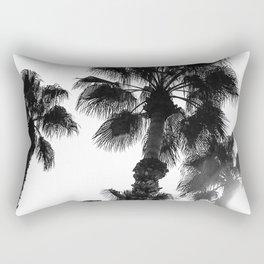 Palm Tree Art Print {3 of 3}   B&W Topical Beach Plant Nature Vacation Sun Vibes Artwork Rectangular Pillow