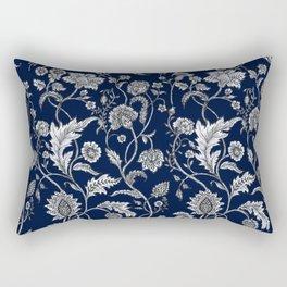Blue Floral - 5 Rectangular Pillow