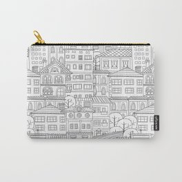 Doodle town pattern Carry-All Pouch
