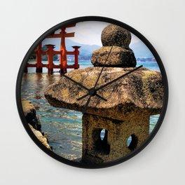 Lonely Lantern (Japan) Wall Clock
