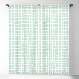 edgewater mint random cross hatch lines checker pattern Blackout Curtain
