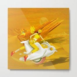 Yellow woman Metal Print